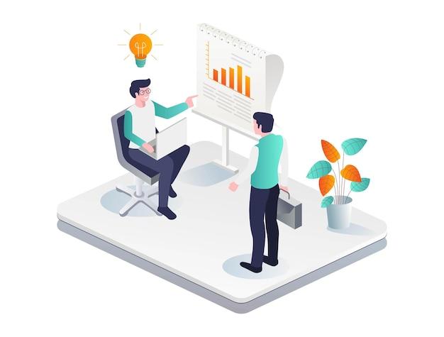 Samenwerken om zaken te ontwikkelen en bedrijfsgegevens te analyseren