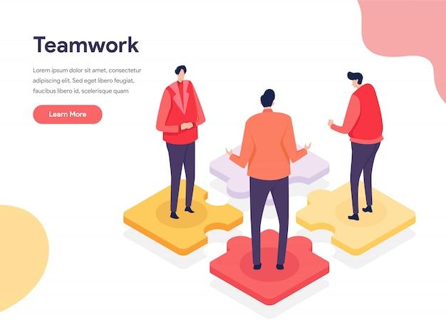 Samenwerkende omgeving illustratie concept