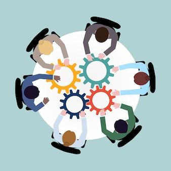 Samenwerking bedrijfsconcept
