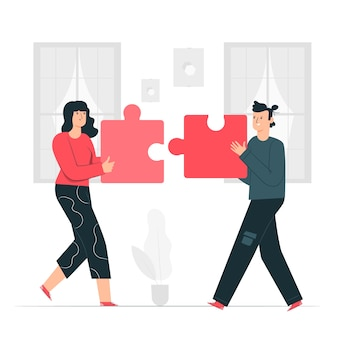 Samenwerking concept illustratie