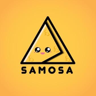 Samosa mascotte logo karakter