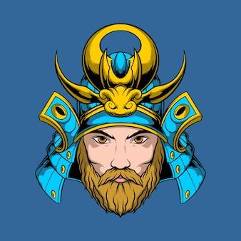 Samurai baard illustratie