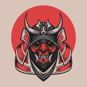 Samurai hoofd