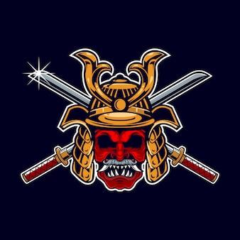 Samurai krijger mascotte
