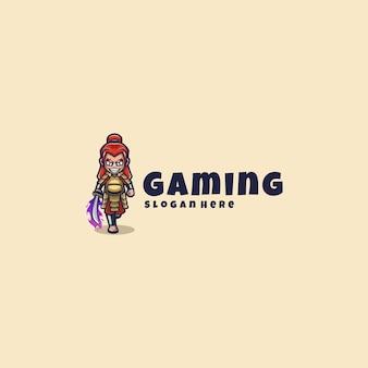 Samurai logo mascotte