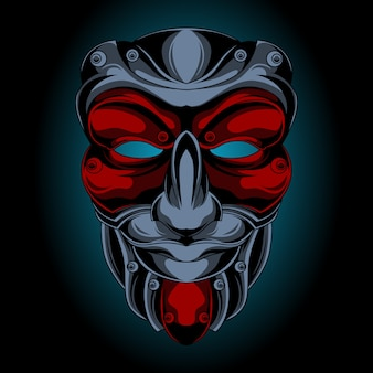 Samurai masker glimlacht