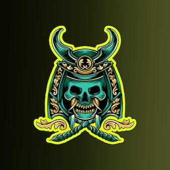 Samurai schedel ronin sierlijk versierd