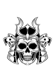 Samurai schedel vectorillustratie