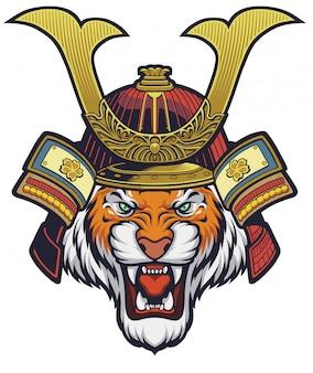 Samurai tiger, helm is afneembaar