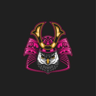 Samurai uil illustratie