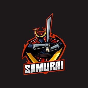 Samurai warrior japan armor logo