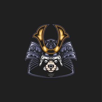 Samurai wasbeer illustratie