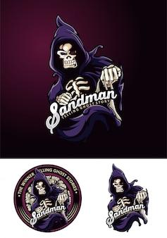 Sandman mascot logo gost