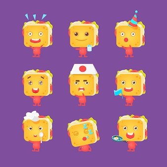 Sandwich character collection