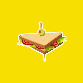 Sandwich illustratie