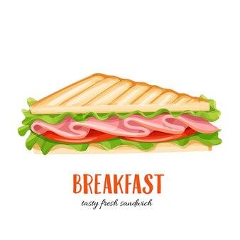 Sandwich met ham