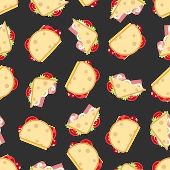 Sandwiches naadloos patroon