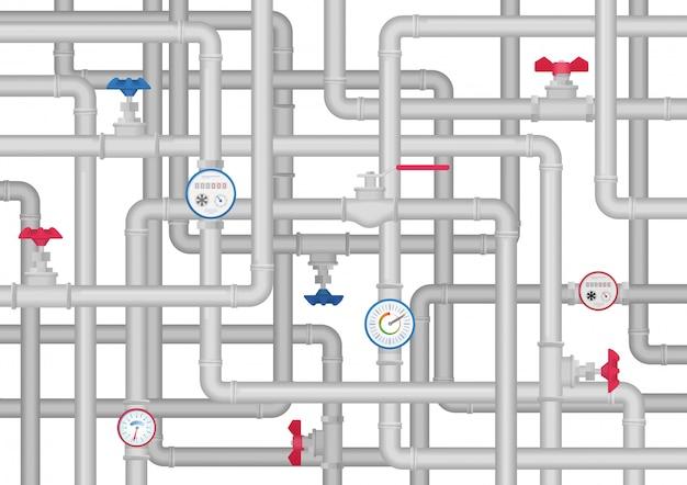 Sanitair buis ware leidingen systeem