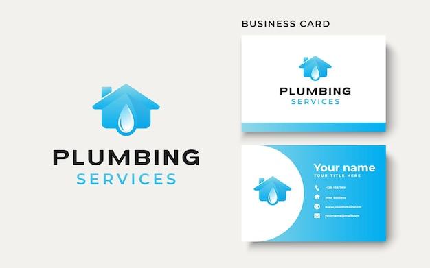 Sanitair huis logo sjabloon geïsoleerd op witte achtergrond. vectorillustratie