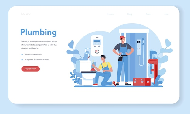 Sanitair service webbanner of bestemmingspagina