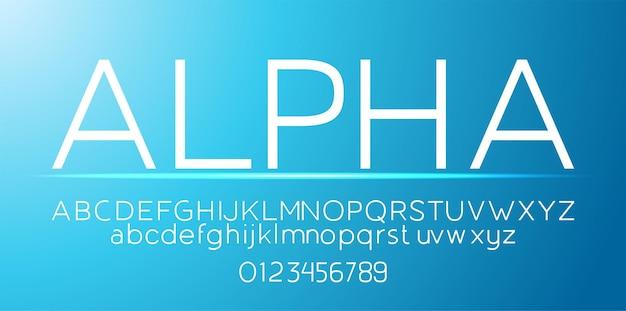 Sans serif-lettertype lettertype alfabet