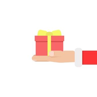Sant clous hand en houd geschenk