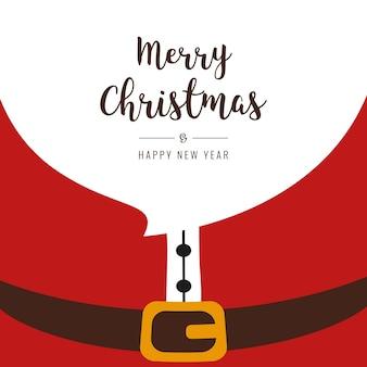 Santa baard vrolijk kerstfeest gretting tekst