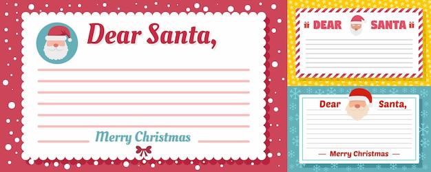 Santa brief banner set