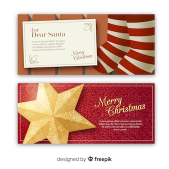 Santa brief kerst banner