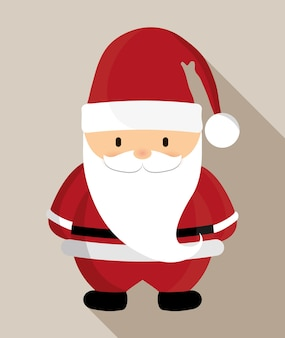 Santa cartoon pictogram.