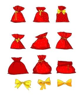 Santa claus bag illustratie