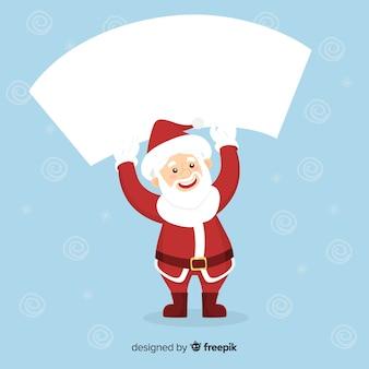 Santa claus bedrijf leeg teken