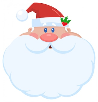 Santa claus cartoon character face portrait