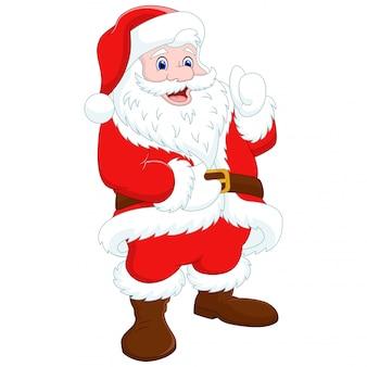 Santa claus duim omhoog