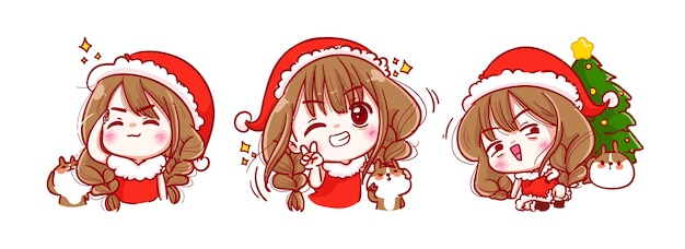 Santa claus-glimlach en gelukkig geïsoleerd op vrolijke kerstmis