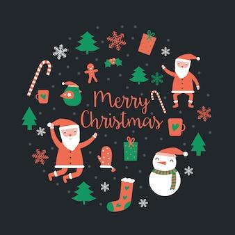Santa claus houdt papieren promotie super verkoop