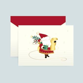 Santa claus op een kerstkaart vector