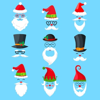 Santa claus-pictogrammen of avatars
