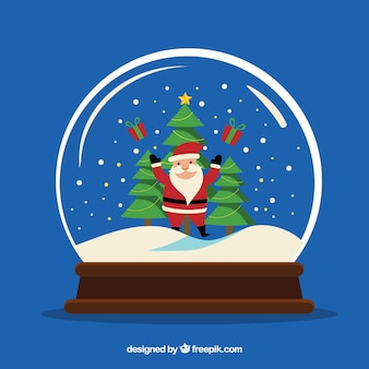 Santa claus sneeuwbal achtergrond