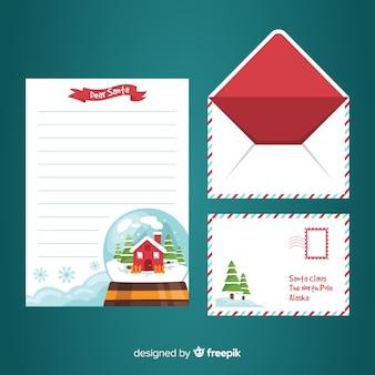 Santa claus sneeuwbal briefsjabloon