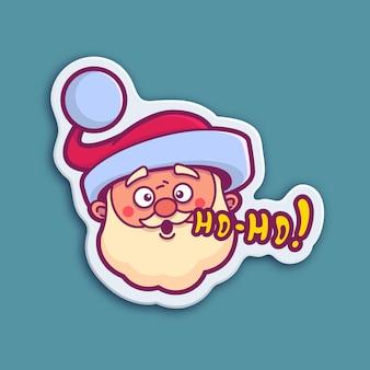 Santa claus-sticker