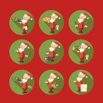 Santa claus-teken op rood wordt geplaatst dat