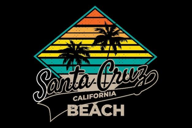 Santa cruz californië strand retro stijl