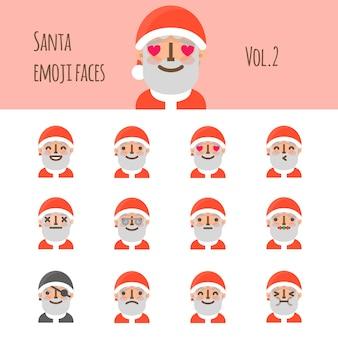 Santa emoji-gezichten