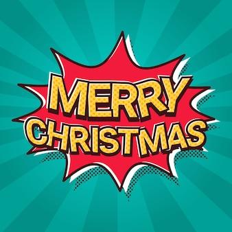 Santa hand hold merry christmas en gelukkig nieuwjaar banner poster design winter vakantie wenskaart