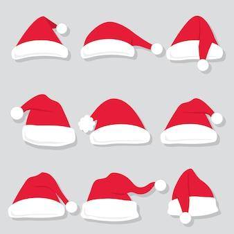 Santa hoeden collectie sets