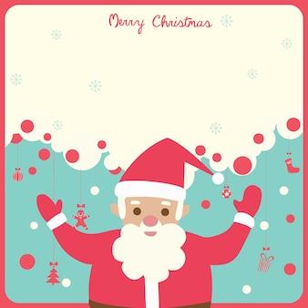 Santa kerstmis rode rand