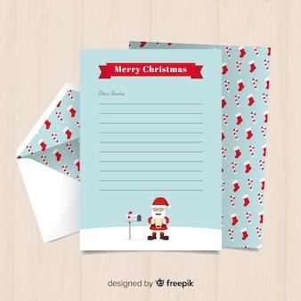 Santa postvak kerst briefsjabloon