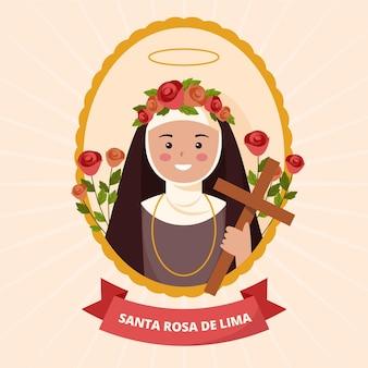 Santa rosa de lima illustratie