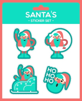 Santa sticker set